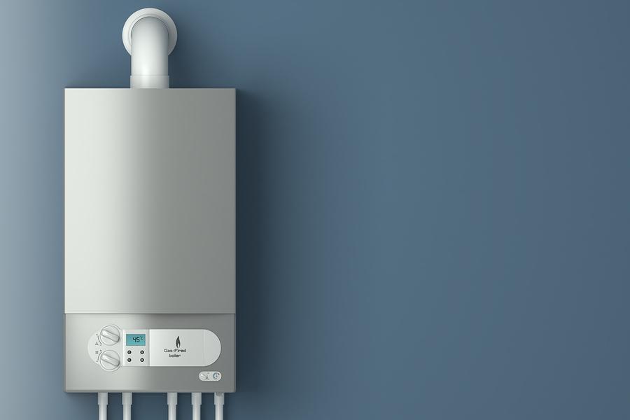 cca824763e Home gas-fired boiler. The installation of gas equipment. Heatin